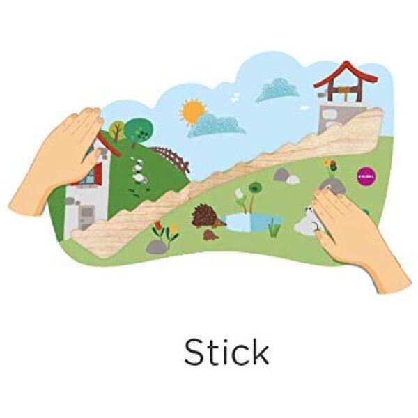 Jack y Jill- juguetes verticales de pared. Ukitu juguetes.