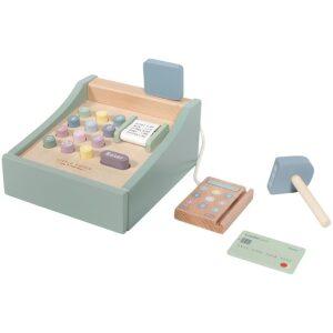 Caja registradora con escáner- madera ecológica. Ukitu juguetes