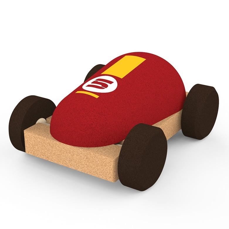 Coche de corcho Racing car-ukitu juguetes