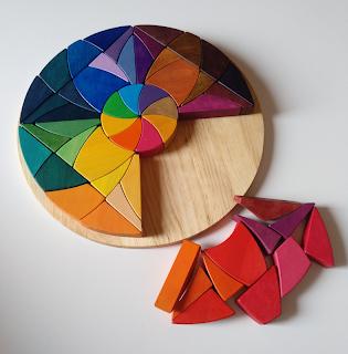 Mandala de madera artesanal