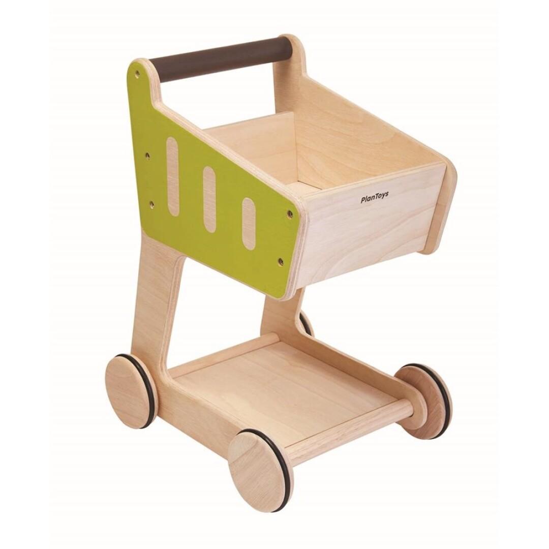 Carrito de la compra- madera maciza ecológica. Ukitu Juguetes.