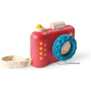 Mi primera cámara- madera de caucho reciclada. Ukitu juguetes