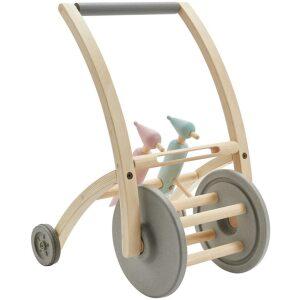 Andador pájaro carpintero- madera maciza ecológica, ruedas de caucho reciclado. Ukitu juguetes