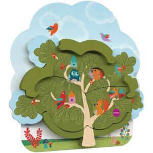 Casa en el árbol- juguetes verticales de pared. Ukitu juguetes.