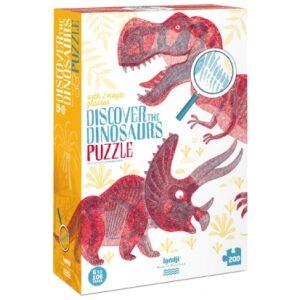 Puzzle discover the dinosaurs. Ukitu Juguetes.