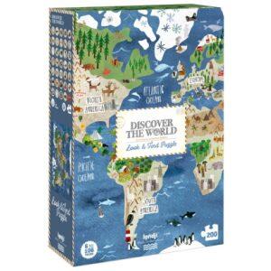 Puzzle discover the world.Mapamundi. Ukitu juguetes.