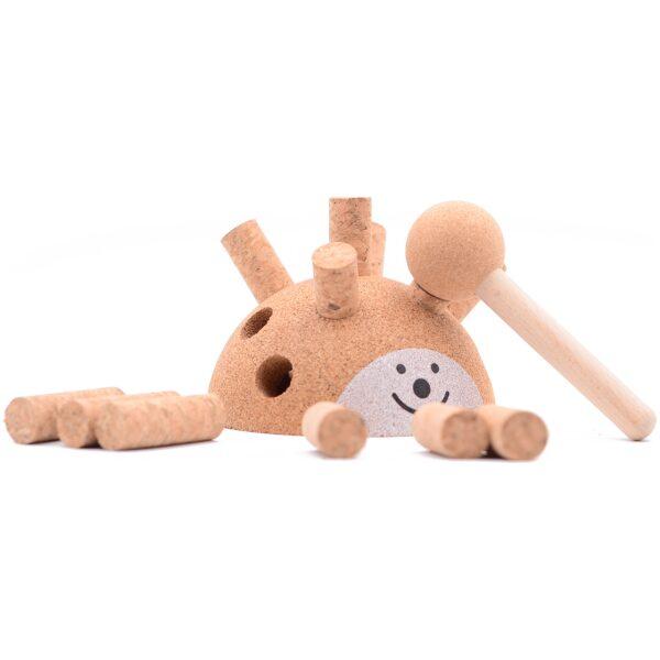 Hedgehog Erizo de corcho. Ukitu juguetes.