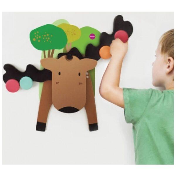 reno balancín- juguetes verticales de pared. Ukitu juguetes.