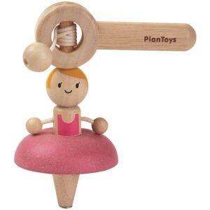Peonza bailarina- madera. Ukitu juguetes