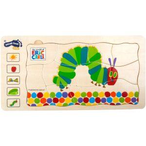 Puzzle 'la pequeña oruga glotona'- ukitu juguetes