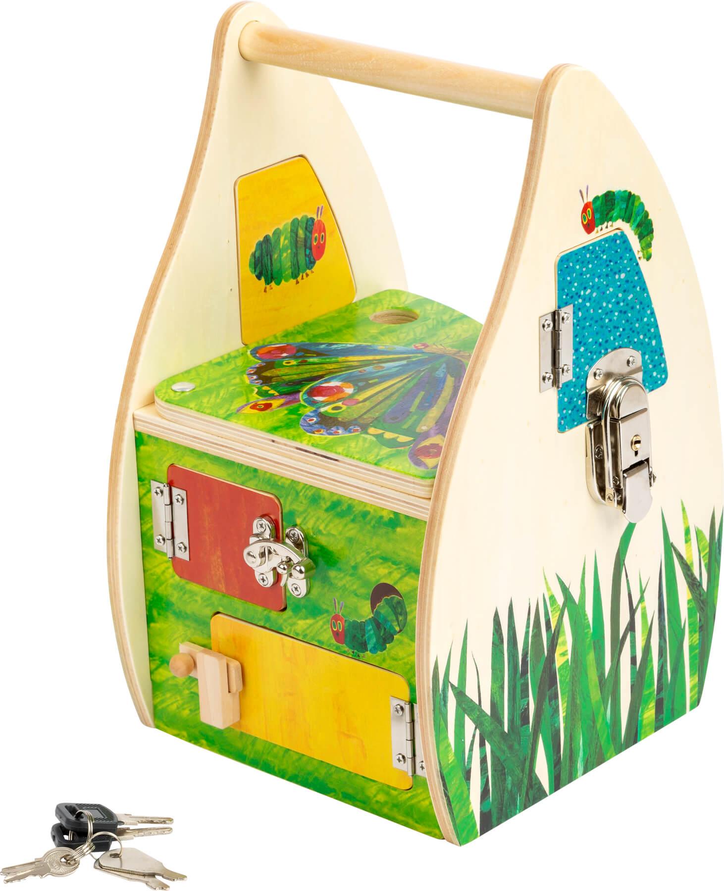 casita de cerraduras 'la pequeña oruga glotona'-Ukitu juguetes