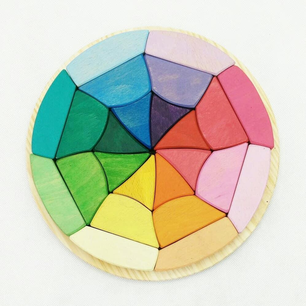 Mandala tela de araña de madera de haya- Ukitu juguetes