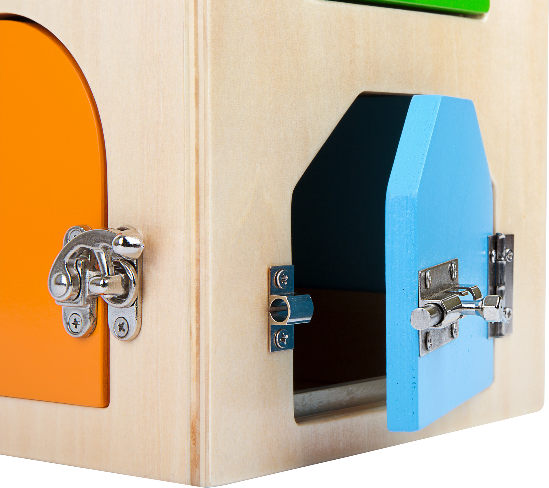 casita de cerraduras de madera-ukitu juguetes