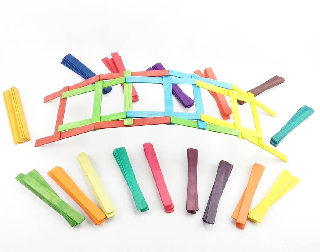 Tablillas de madera puente Da vinci- Ukitu juguetes