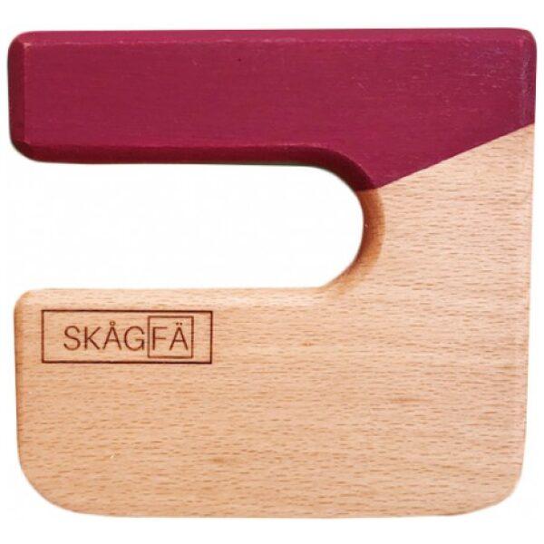 Cuchillo para niños de madera color granate-ukitu juguetes