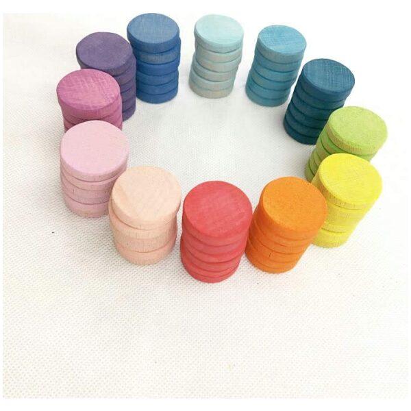 72 monedas color pastel. Ukitu juguetes