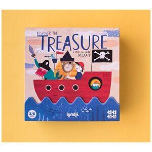 Puzzle discover the treasure. 4 rompecabezas. Ukitu juguetes