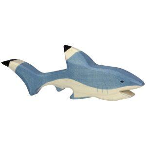 Tiburón de madera-ukitu juguetes
