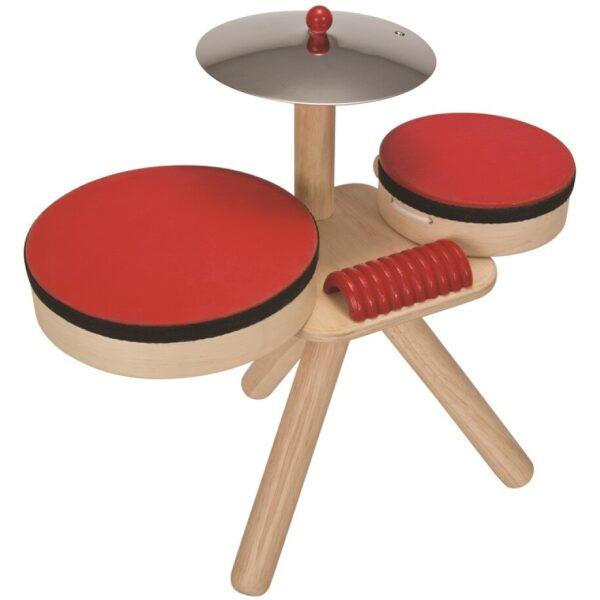 Batería madera y caucho. ukitu juguetes