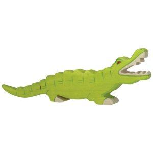 cocodrilo. juguete de madera artesanal. ukitu juguetes