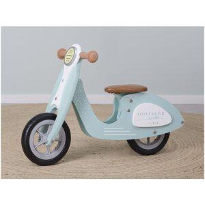 bicleta aprendizaje scooter madera color menta Ukitu juguetes