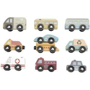 set 9 vehículos de servicios y emergencia Ukitu juguetes