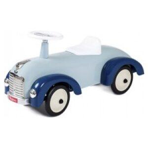Correpasillos coche retro en tonos azules. Ukitu juguetes