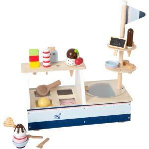 puesto de helados de madera. ukitu juguetes