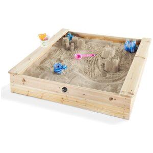 Arenero de madera de pino con certificado FSC. ukitu juguetes