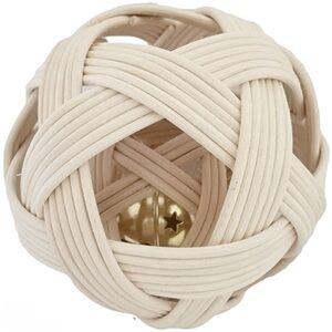 Pelota Pikler grande doble con casacbel realizada en médula de junco realizada de manera artesanal- Ukitu juguetes