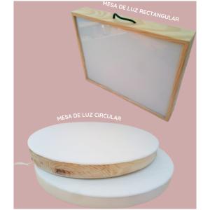 Caja de luz circular y rectangular. ukitu juguetes