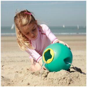 Cubo de playa mágico ballo lagoon green. Ukitu juguetes