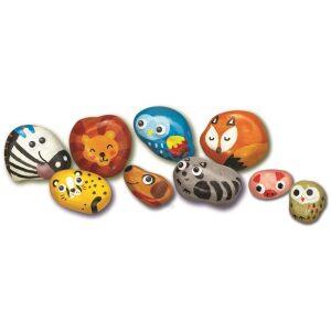 Kit para pintar piedras de animales. Ukitu juguetes