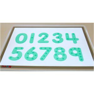 Números de silicona traslúcidos con puntos. Ukitu juguetes